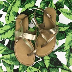 5 for $25 TopShop Gold Leather Sandals